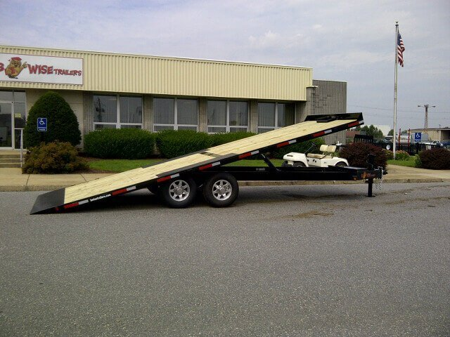 BWISE Tilt Deckover Bumperpull Hydraulic – 15000 lb.