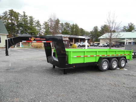 "DLPG18-21 BWISE Dump 82"" x 18' trailer 21000 GVWR"