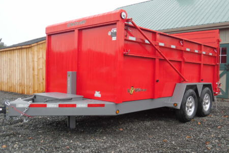 "BWISE DU14-15 Ultimate Dump 82"" x 14' trailer"