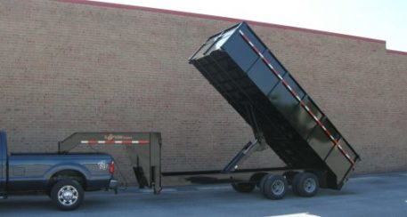 "BWise DDHD18-23 Dump gooseneck trailer 23000 GVWR 96"" x 18'"