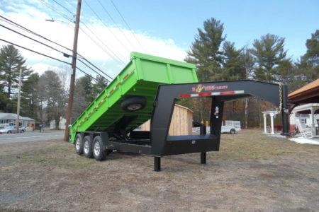 BWISE DLPG18-21 Dump trailer gooseneck - 82 x 18' - 21000 GVWR