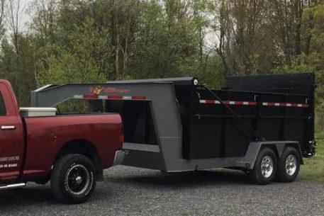 BWISE DUG16-16 Ultimate Dump gooseneck trailer - 82 x 16' - 16800 GVWR