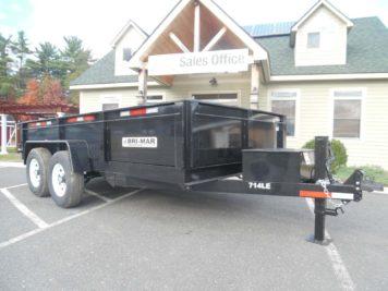 """Bri-Mar DT714-LP-LE-14 Dump trailer - 82"""" x 14' - 14000 GVWR"""