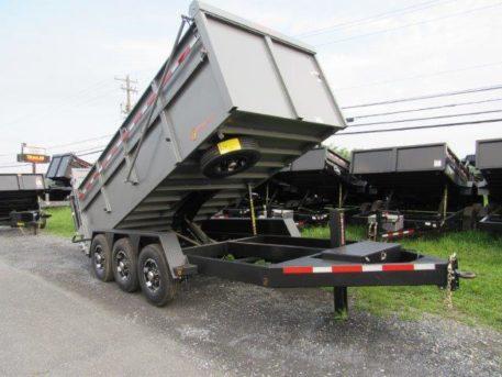 BWise DU16-21 Ultimate Dump tri-axle trailer 82 x 16' - 21000 GVWR