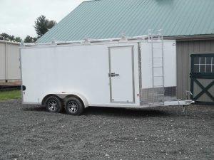 "EZ-Hauler EZEC7x16-UCP enclosed trailer 79½"" x 16' - 7000 GVWR"