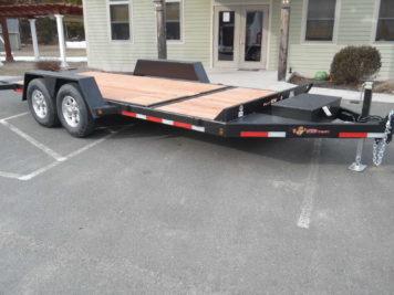 "BWise TG18-15 Tilt trailer 82"" x 18' - 15400 GVWR"