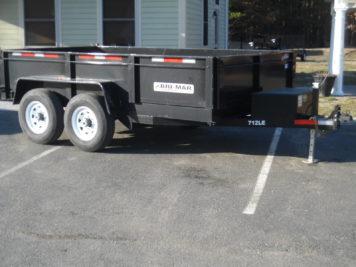 """Bri-Mar DT712LP-LE-12 Dump trailer 82"""" x 12' - 12000 GVWR"""