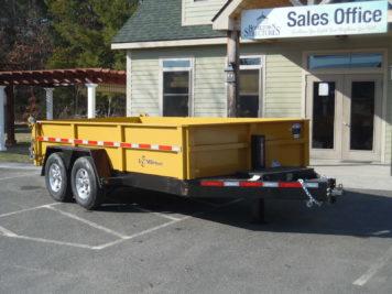 "BWise DLP14-15 Dump trailer 82"" x 14' - 15400 GVWR"