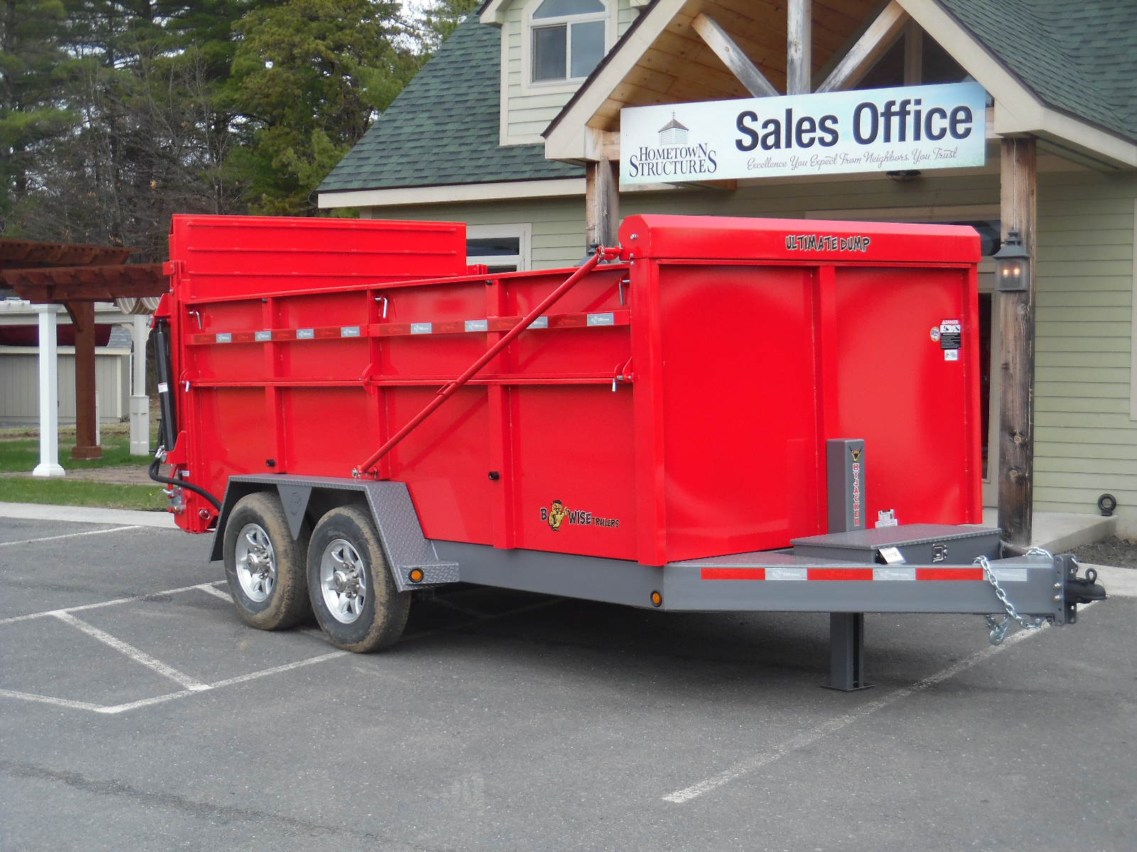 "BWise DU14-15 Dump trailer Ultimate 82"" x 14' - 15400 GVWR"