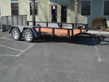 "BWise L14-7 Utility trailer 82"" x 14' - 7000 GVWR"