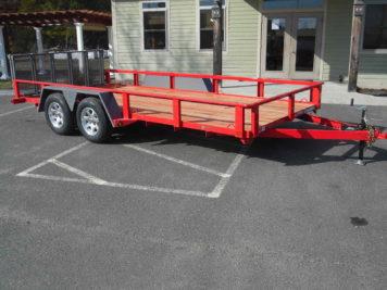 "BWise L16-7 Utility trailer 82"" x 16' - 7000 GVWR"