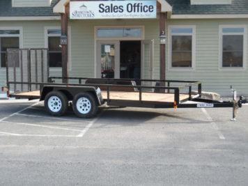 """Bri-Mar UT-716 Utility trailer 82"""" x 16' - 7000 GVWR"""