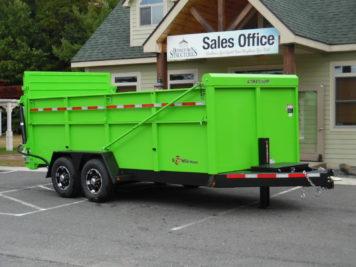 "BWise DU16-15 Ulitmate Dump trailer - 82"" x 16′ – 15400 GVWR"