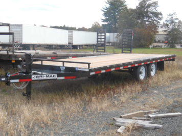 "Bri-Mar EH820-14 Equipment trailer 101"" x 20' - 14000 GVWR"