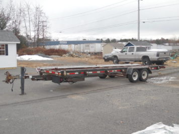 used A & Z shed trailer 24' deck, 10000 GVWR