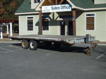 used Burkholder trailer 102 x 22' deck, 10000 GVWR