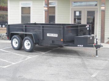 """Bri-Mar DT612LP-LE-10 Dump trailer 72"""" x 12' - 9990 GVWR"""