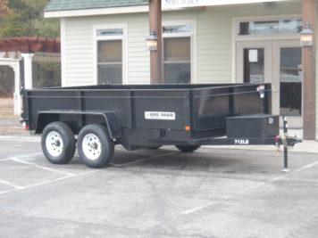 """Bri-Mar DT712LP-LE-10 Dump trailer 81"""" x 12' - 9990 GVWR"""