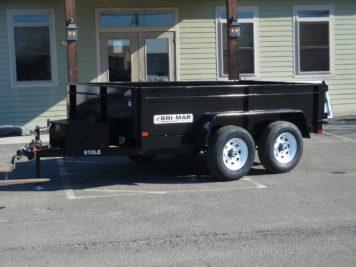 """BriMar DT610LP-LE-10 Dump Trailer 82"""" x 10' - 9990 GVWR"""