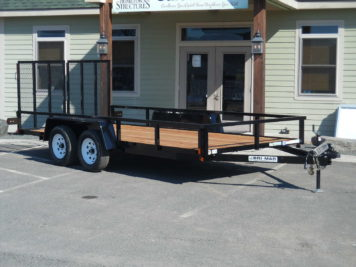 "BriMar UT-716 Utility trailer 82"" x 16' - 7000 GVWR"