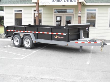 "BWise DLP16-17 dump trailer 82"" x 16' - 17600 GVWR"