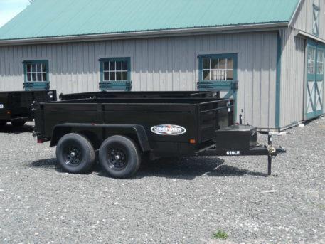 """Bri-Mar DT610LP-LE-10 dump trailer 72"""" x 10' - 9990 GVWR"""