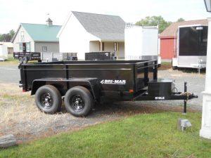 """BriMar DT610LP-LE-10 Dump trailer 72"""" x 10' - 9990 GVWR"""