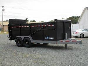 "BWise DU16-15 Ultimate Dump 82"" x 16' trailer 15400 GVWR black"