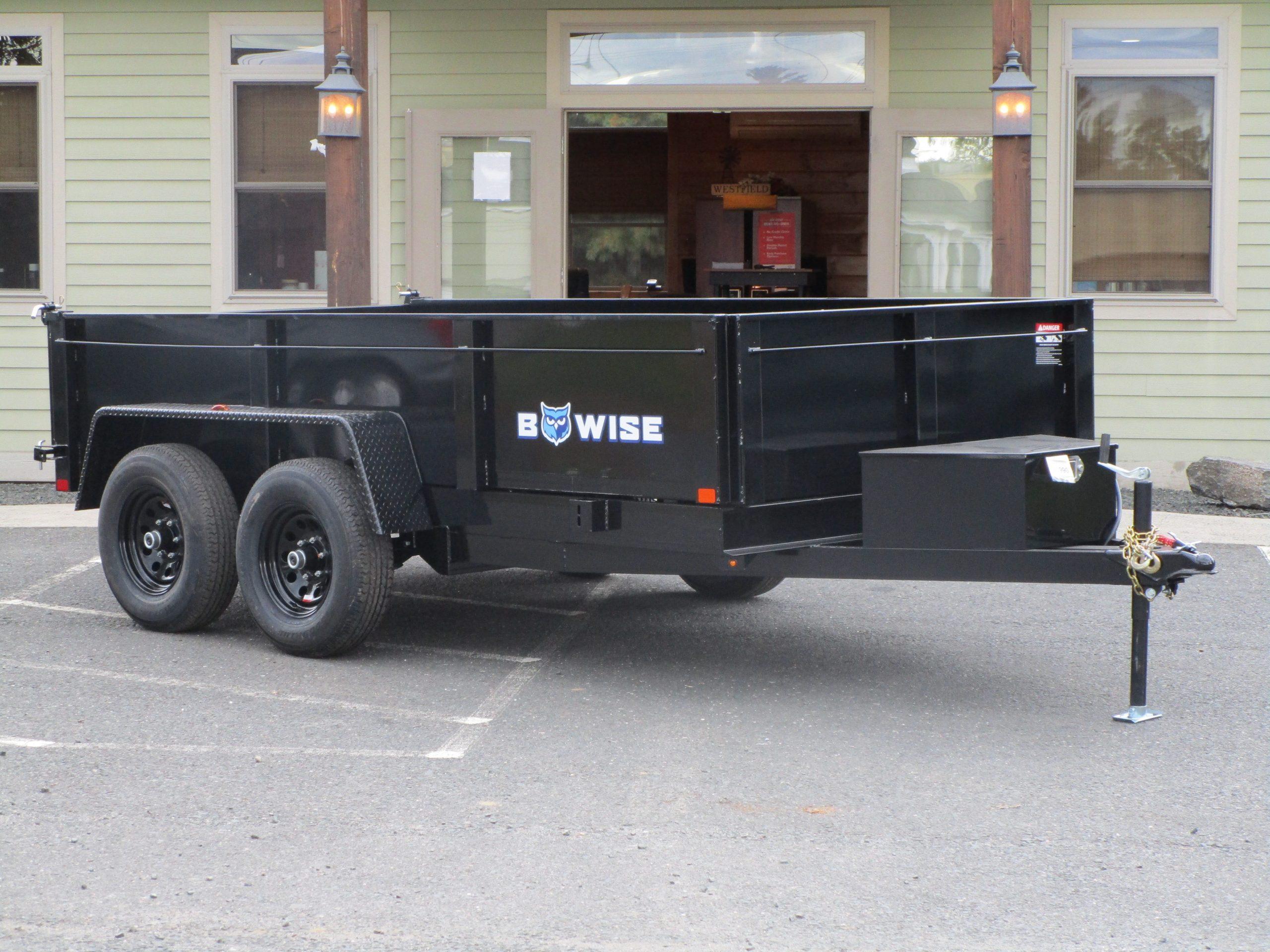 """BWise DT612LP-LE-10 Dump trailer 72"""" x 12' 9990 GVWR"""