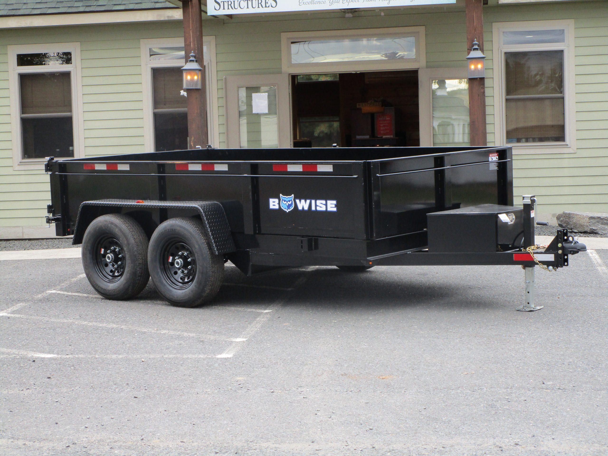 """BWise DT712LP-LE-12 Dump trailer 82"""" x 12' 12000 GVWR"""