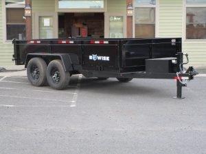 """BWise DT714LP-LE-14 Dump trailer 82"""" x 14' 14000 GVWR"""